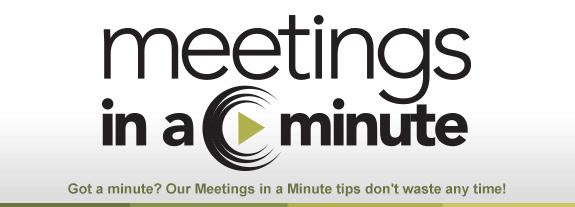 Meetings in a Minute